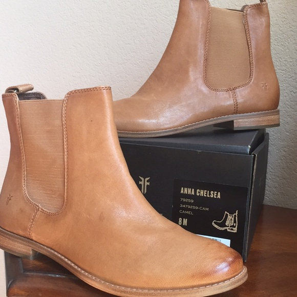 9677ed09ff9d Frye Shoes - FRYE Anna Chelsea boot Camel leather size 8 M